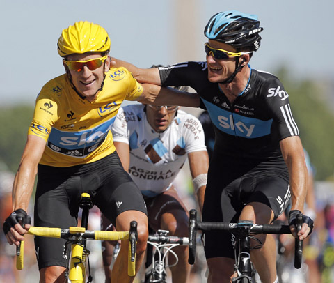 Tour de France: Bradley Wiggins in Paris