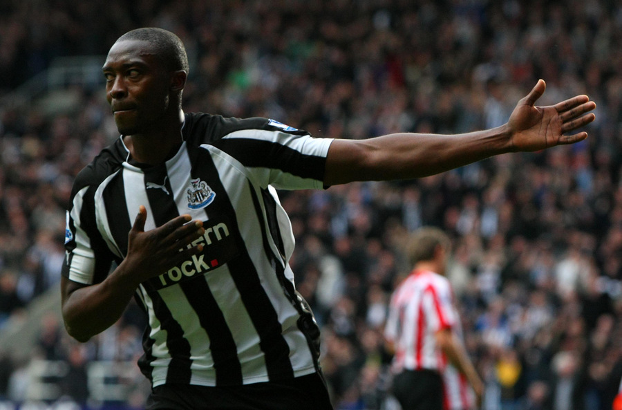 DERBY DESTROYER: Shola Ameobi has scored seven goals in Tyne-Wear derbies, six more than any other player in the two squads