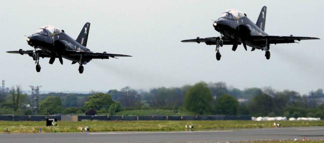 LASER THREAT: Two Hawk jets take off from RAF Leeming