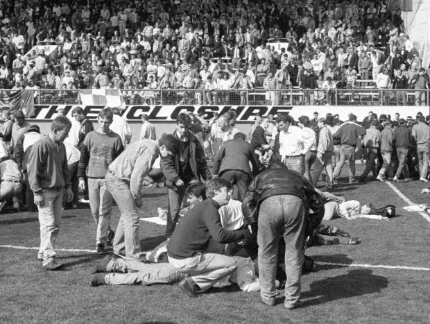 The Northern Echo: A harrowing image from the 1989 Hillsborough tragedy