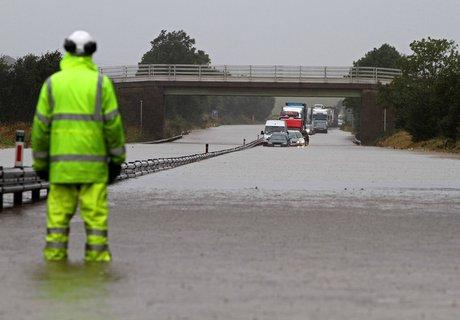 The Northern Echo: A1 floods