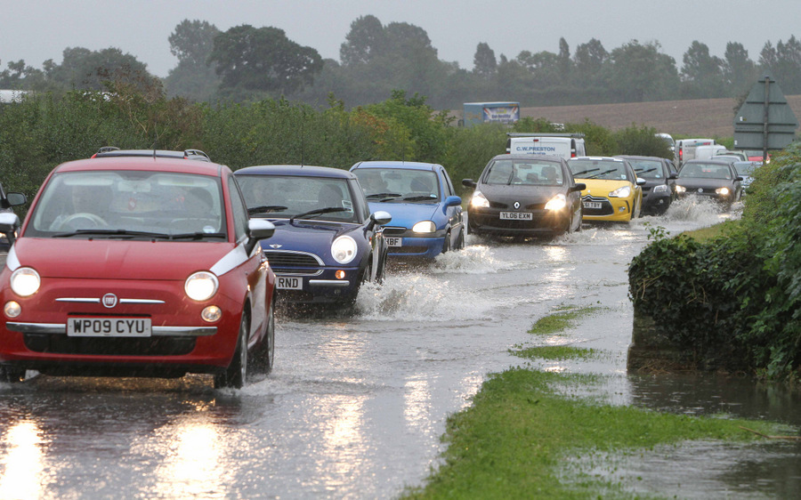 Motorists negotiate the A168 between Thirsk and Northallerton