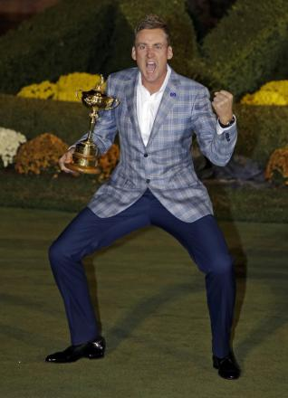 WINNER: Ian Poulter with the Ryder Cup