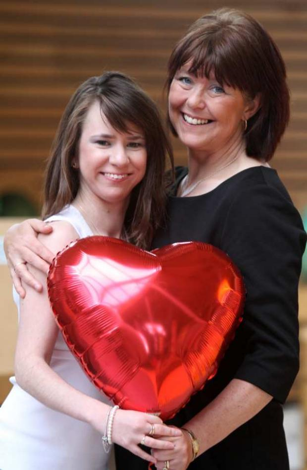 Kaylee Davidson-Olley with her mum Carol