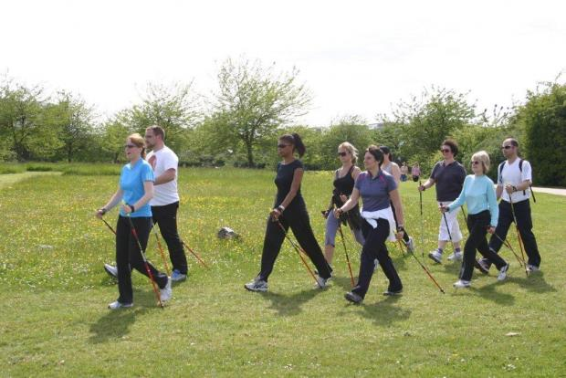 Nordic Walking uses poles to work different muscles
