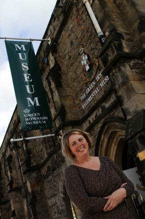 BUSY ROLE: Lynda Powell outside the museum