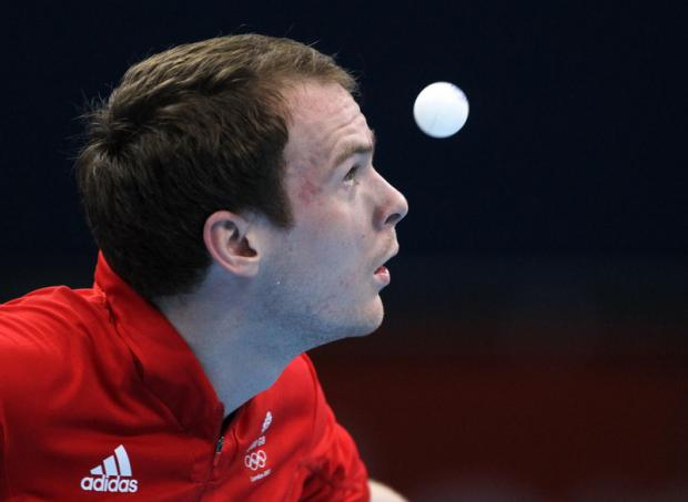 SILVER MEDAL: Paul Drinkhall was part of the England men's team that claimed a silver medal at the Commonwealth Games this afternoon