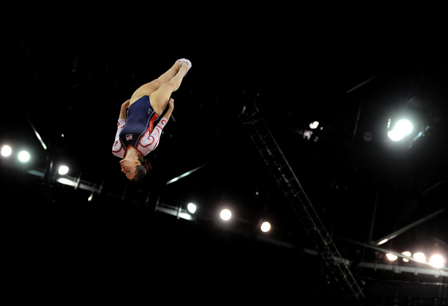 FLYING HIGH: North-East trampolinist Kat Driscoll won a team gold and individual silver at the European Trampoline Championships in Portugal