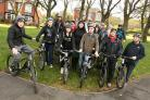 TRUST TEAM: Volunteers from a new Prince's Trust team on a sponsored bike ride from Stanley to Sunderland to raise money for the RSPCA