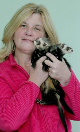 Karen Webb with Lady Truffle and her intended Crusher Hoblet