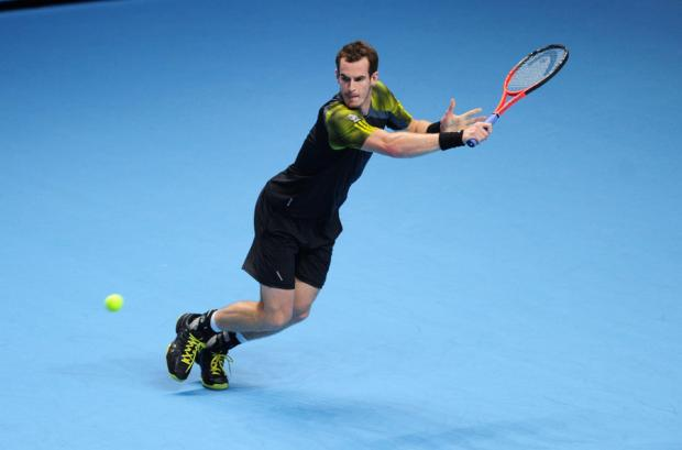 SEASON OVER: Murray was well beaten last night in the semi-final of the World Tour Finals in London