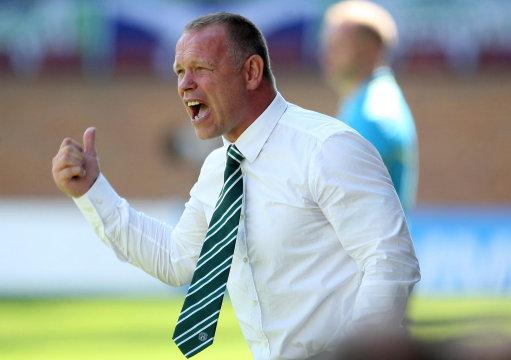 TAKING OVER: John Hughes as Hibernian boss