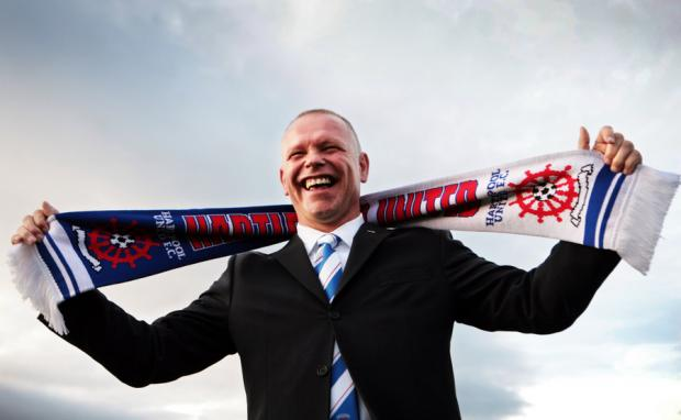 RARING TO GO: New Hartlepool United manager John Hughes can't wait to get started in his new role today