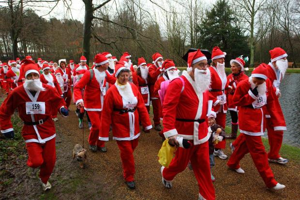 Participants at last year's Butterwick Hospice Santa Run