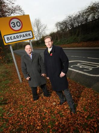 Councillors Rev Crooks and Mark Wilkes in Bearpark