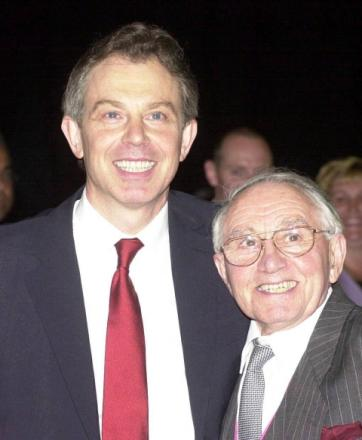Mr Blair with his father