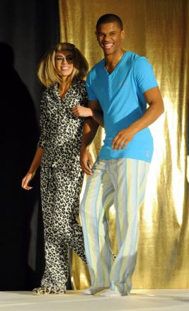 STRIKING A POSE: Fraizer Campbell on the catwalk
