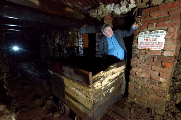 GOING UNDERGROUND: John Wiggins in his garden mine