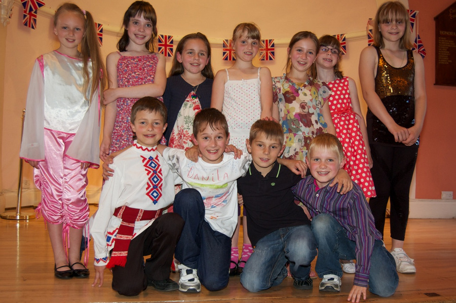WELCOME BREAK: A group of children from Belarus after a farewell concert in July for their host families