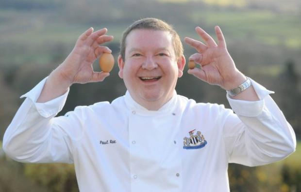 Paul Rae, 52, from Wallwick Farm House B&B in Northumberland, who reckons he has found the world's smallest hen's egg