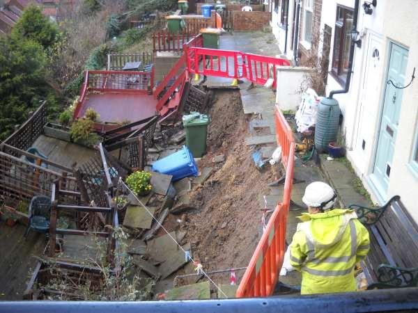 The Northern Echo: The landslip in Whitby