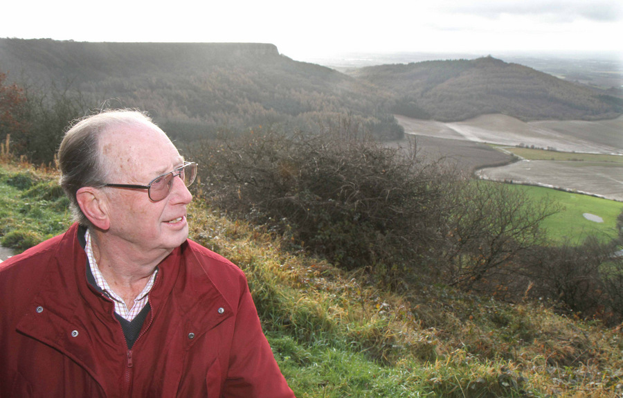 LAND ROLE: Derek Statham at Sutton Bank, near Thirsk