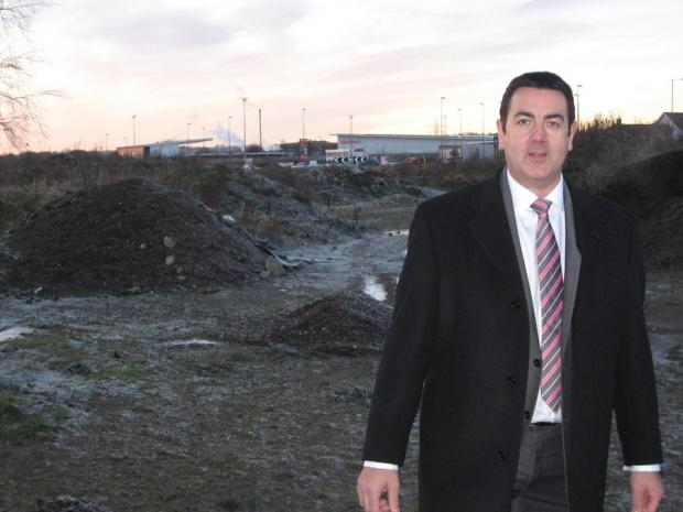 West Auckland County Councillor Rob Yorke at the proposed cinema complex site, pictured in 2012