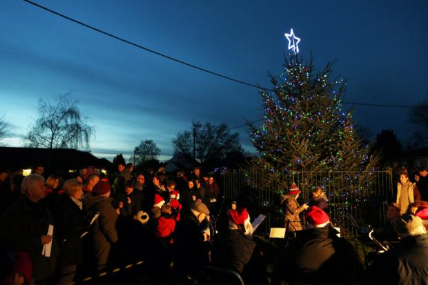 LET THERE BE LIGHT:The Christmas light switch on at Middleton St George
