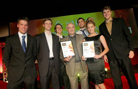 LOCAL HERO: Dave Elderkin with Durham Wildcats members at last year's ceremony