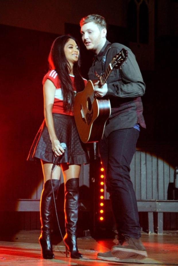 James Arthur with mentor Nicole Scherzinger