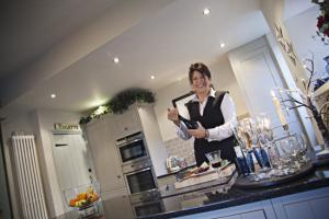 The Northern Echo: Alyson says the kitchen is great for chatting to guests while she is serving out drinks and cooking Christmas lunch, whle the sitting room is a cosy, warm cocoon