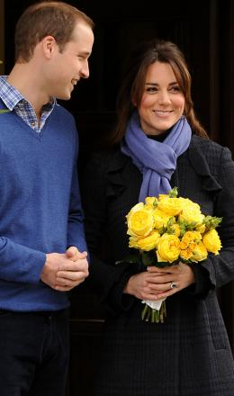 William and Kate leaving hospital earlier this week
