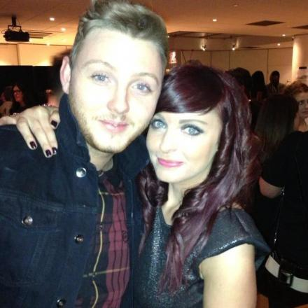 James Arthur gives his big sis Sian a hug at an event in London