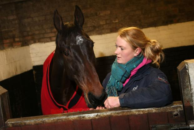 NEW LEASE OF LIFE: Emma Hawksby with retired racehorse Mole Control