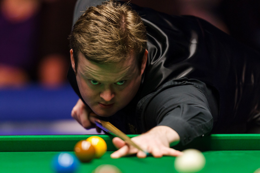 INTO THE SEMIS: Shaun Murphy on his way to a quarter-final victory over Luca Brecel during the UK Championships at the York Barbican Centre