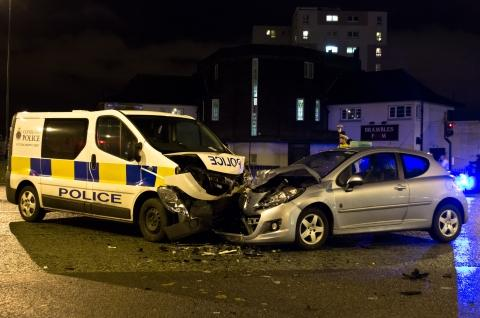 The scene of the collision Pic: Callum Parry