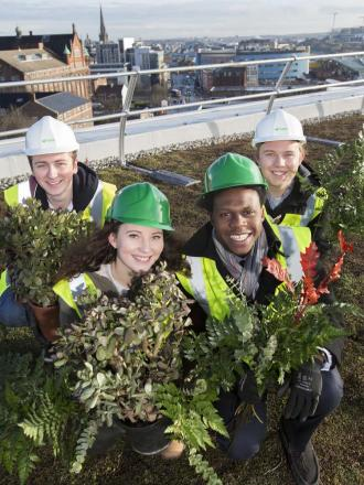 Living roof breathes fresh air into city centre