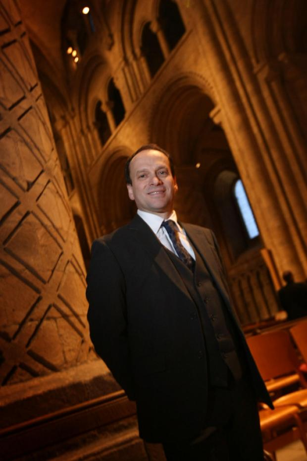 PLENTY TO DO: Architect Chris Cotton in Durham Cathedral