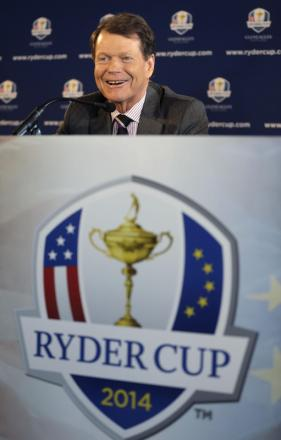 CUP CAPTAIN: Tom Watson during a news conference in New York yesterday when he was revealed as Ryder Cup captain