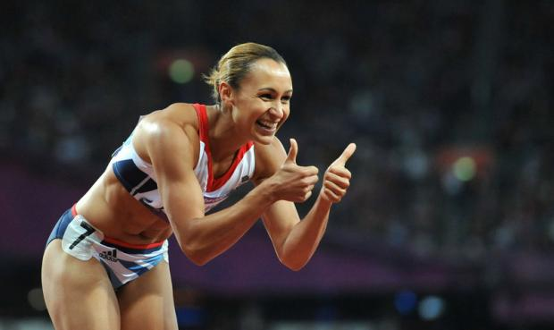 HAPPY MEMORIES: Jessica Ennis after winning gold this summer