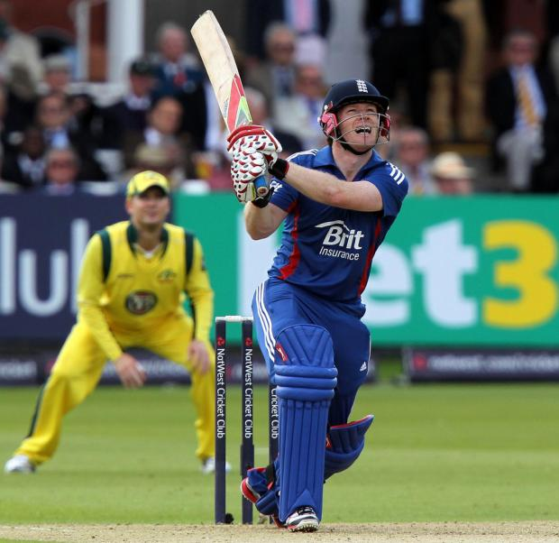 LOOKING FORWARD: England batsman Eoin Morgan