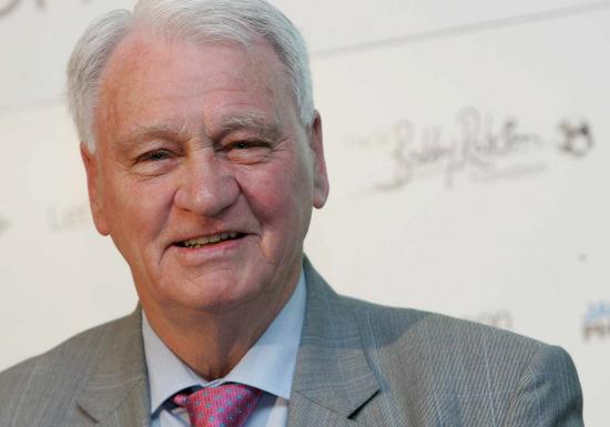 Sir Bobby Robson at the launch of the foundation in 2008