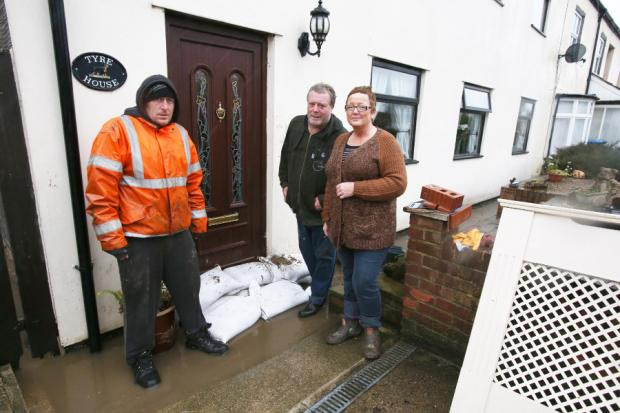 The Northern Echo: Brian and Julie Pike with neighbour Michael Robinson