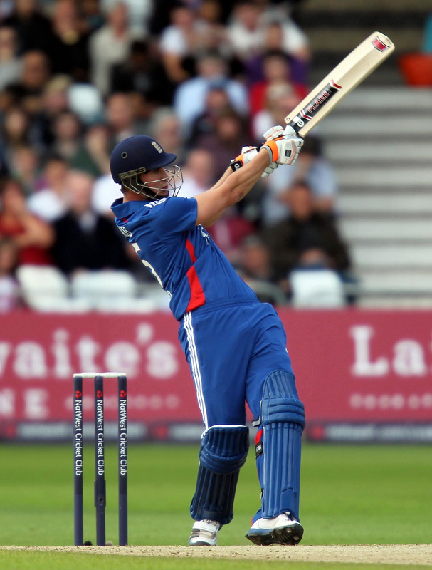TOP SCORER: Alex Hales scored 56 to get England off to a decent start in Pune