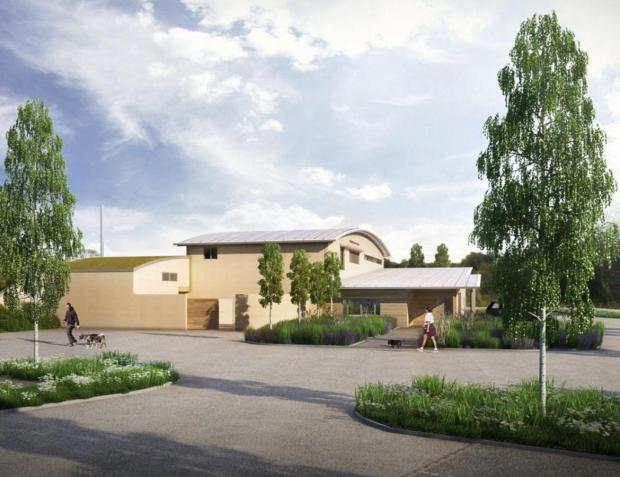 HOSPITAL PLAN: An artist's impression of the proposed veterinary hospital next to the Bradbury Services, near Sedgefield.