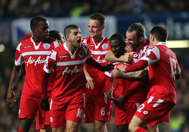 AGAINST THE ODDS: Shaun Wright-Phillips celebrates his winning goal against Chelsea at Stamford Bridge last night