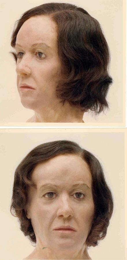 The Northern Echo: MYSTERY REMAINS: A 30-year-old wax reconstruction of the head of the woman found at Sutton Bank