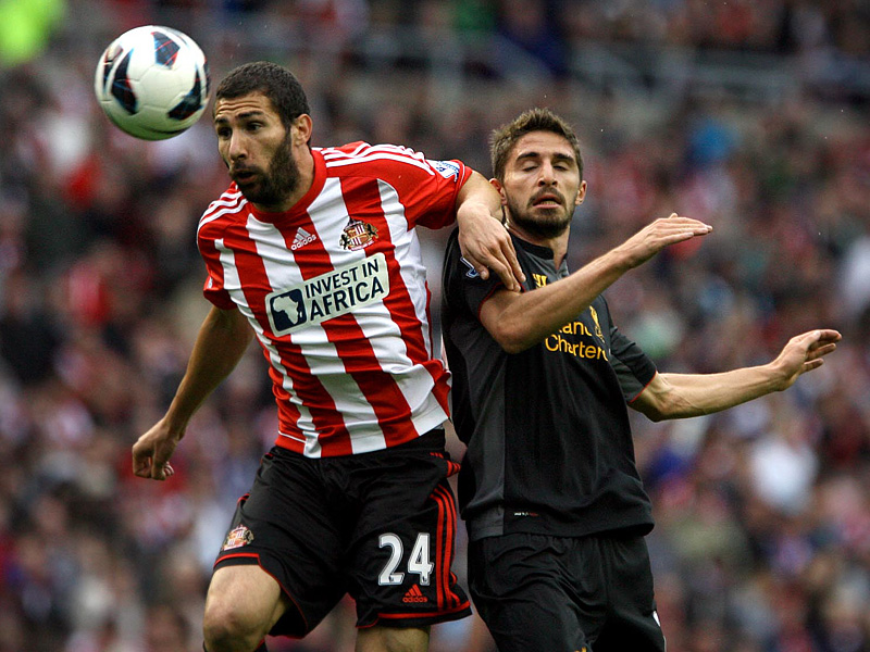 STILL FIGHTING: Carlos Cuellar insists his Sunderland team-mates have not thrown in the towel despite their position at the foot of the table