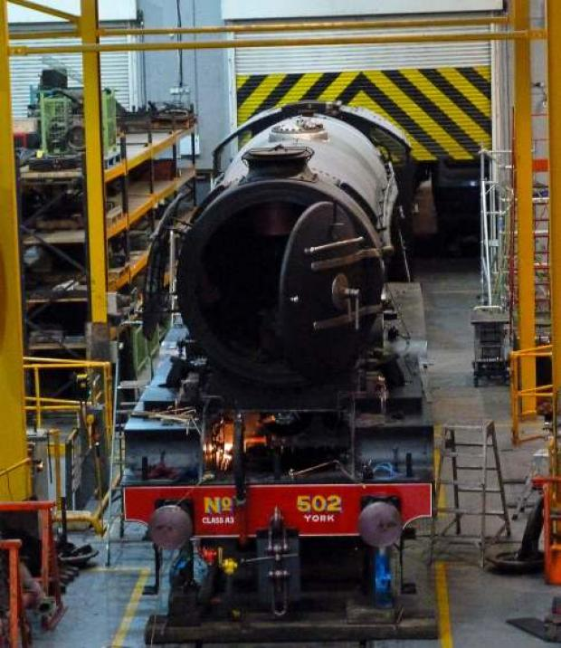 Costly restoration: Flying Scotsman