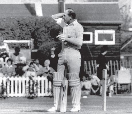 GUEST SPEAKER: Geoff Boycott, pictured at Middlesbrough's Acklam Park while making his 150th – and penultimate – century against Leicestershire in 1986, will tonight be part of Yorkshire's 150th anniversary celebrations